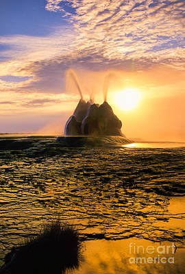 Algae Photograph - Fly Geyser Sunrise by Inge Johnsson