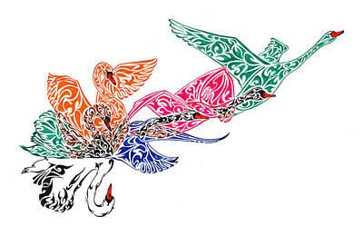 Filigree Painting - Fly High by Anushree Santhosh