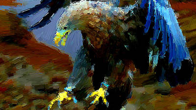 Eagle Painting - Aggressiveness by VRL Art