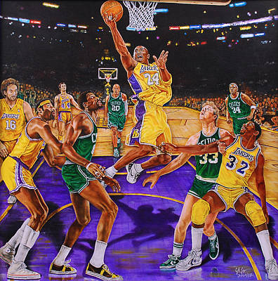 Magic Johnson Painting - Fly With Me by Johnson Lo