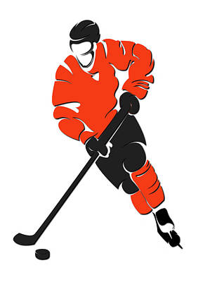Philadelphia Flyers Photograph - Flyers Shadow Player by Joe Hamilton