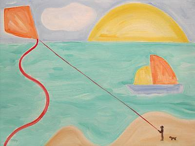 Flying A Kite Print by Patrick J Murphy