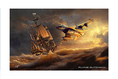 Viper Digital Art - Flying Dutchman by Peter Van Stigt