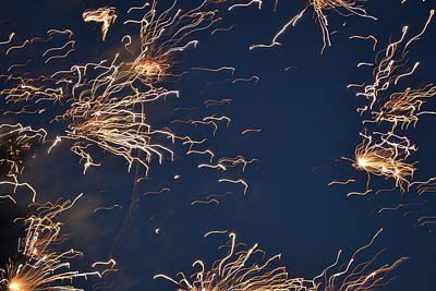 Flying Fireworks Print by Kim Stafford