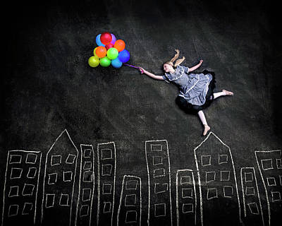 Birthday Photograph - Flying On The Rooftops by Nj Sabs