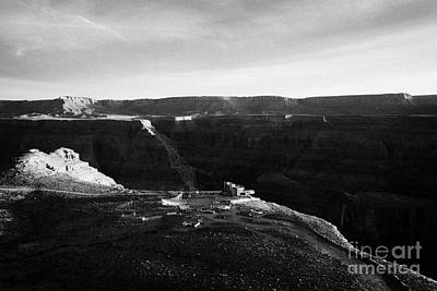 Flying Over Land Approaches To The Rim Of The Grand Canyon At Eagles Point In Hualapai Indian Reserv Print by Joe Fox