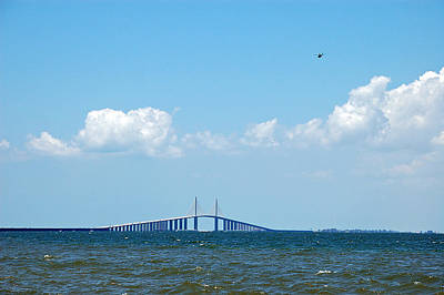 Seascape Photograph - Flying Over The Skyway by Aimee L Maher Photography and Art Visit ALMGallerydotcom