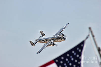 B25 Photograph - Flying Patriot by Mkaz Photography