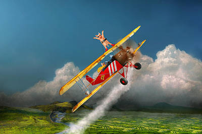 Mikesavad Photograph - Flying Pigs - Plane - Hog Wild by Mike Savad