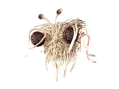 Flying Spaghetti Monster Print by Christian Darkin