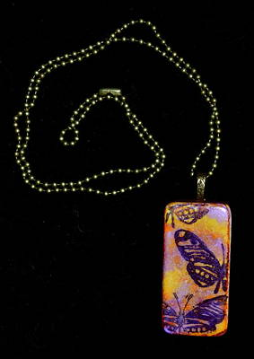 Flying Strong Domino Pendant Print by Beverley Harper Tinsley