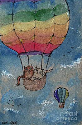 Flying Together Print by Angel  Tarantella