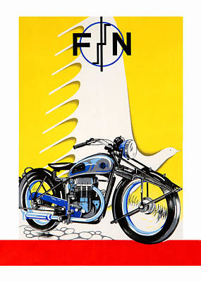 Fn Photograph - Fn Motorcycles by Mark Rogan