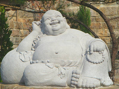 Culture Painting - Fo Guang Shan Laughing Buddha by Lanjee Chee