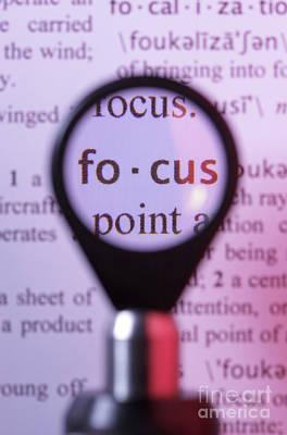 Focus Print by GIPhotostock