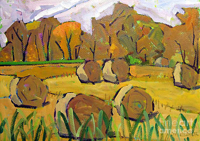 Bales Painting - Fodder Bales by Charlie Spear