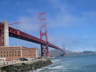 Fog Coming Over The Golden Gate Print by Jay Milo