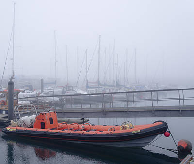 Anstruther Photograph - Fog In Marina II by Elena Perelman