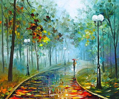 Foggy Painting - Fog Of Passion by Leonid Afremov