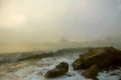 Fog Mixed Media - Fog On The Water by John K Woodruff