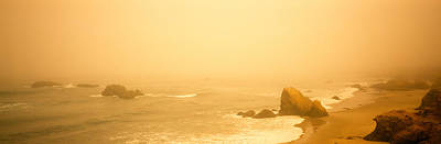 Mendocino Photograph - Fog Over The Beach, Mendocino by Panoramic Images