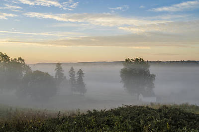 Pennsylvania Photograph - Fog Over Valley Forge by Bill Cannon