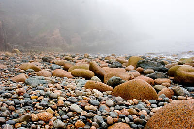 Foggy Frosting On The Rocks Print by Brent L Ander