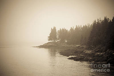 Foggy Maine Coast Print by Diane Diederich