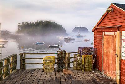 Foggy Morning In Five Islands Print by Benjamin Williamson