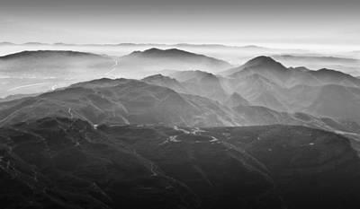 Foggy Mountains Print by Nadya Ost
