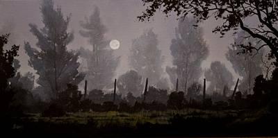 Foggy Start Print by Douglas  Johnpeer