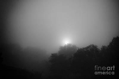 Foggy Sunrise Print by Arne Hansen