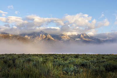 Foggy Teton Sunrise - Grand Tetons National Park Wyoming Print by Brian Harig