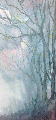 Foggy Trees Original by Rebecca Davis