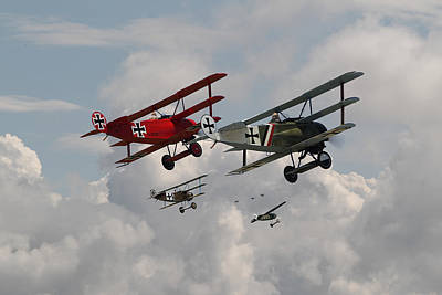 Fokker Photograph - Fokker Squadron - Contact by Pat Speirs