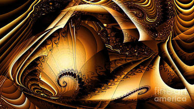 New Artist Digital Art - Folds In Time by Peter R Nicholls