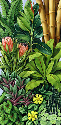 Bamboo Painting - Foliage IIi by Catherine Abel
