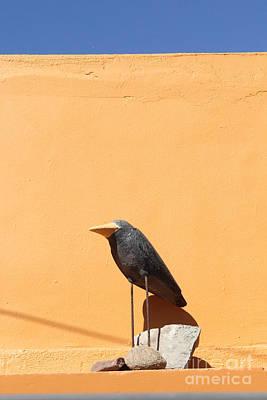 Folk Art Crow Todos Santos Print by Linda Queally