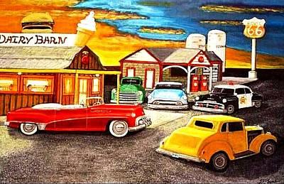 Roadside Rt 66 Original For Sale Original by Larry Lamb