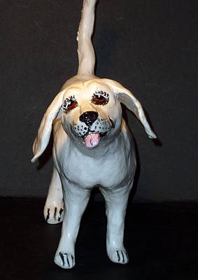 Sculpture - Folk Art White by Debbie Limoli