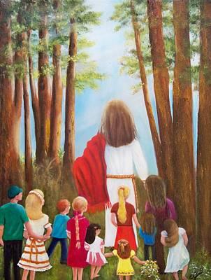 Religious Painting - Follow Me by Joni McPherson