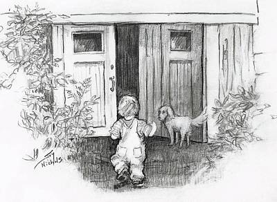 Buddy Drawing - Follow Me by Joy Nichols