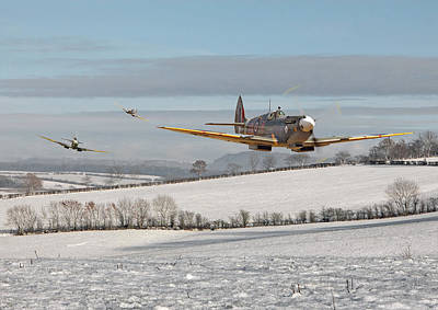 Spitfire Digital Art - Follow My Leader by Pat Speirs