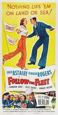 Follow The Fleet, Top L-r Ginger Print by Everett