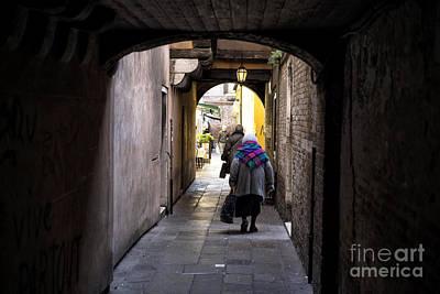Femal Photograph - Follow The Light In Venice by John Rizzuto