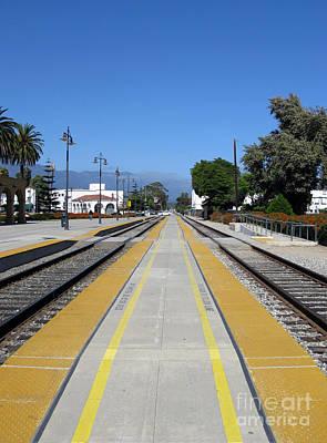 Follow The Yellow Brick Road. Santa Barbara. California. Print by Ausra Huntington nee Paulauskaite