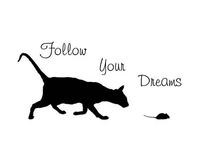 Cats Digital Art - Follow Your Dreams by Bamalam  Photography