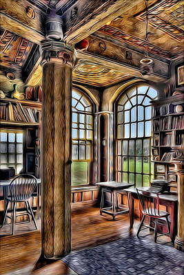 Pennsylvania Photograph - Fonthill Castle Office by Susan Candelario