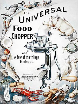 Food Chopper Print by Flamingo Graphix John Ellis