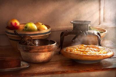 Food - Pie - Mama's Peach Pie Print by Mike Savad